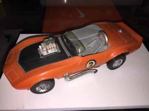 1969-70 Hasbro Amaze-a-matics Made In Japan Corvette Stingray Race Car Awesome
