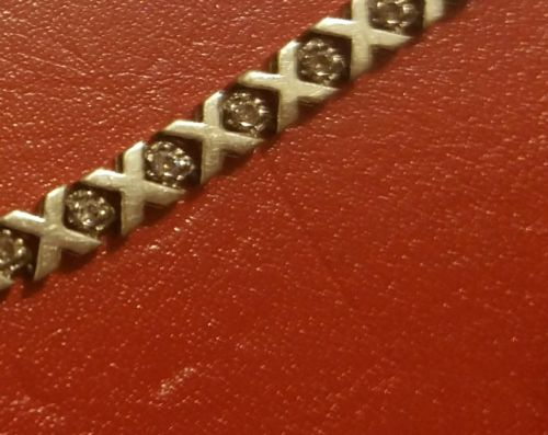 WHITE GOLD DIAMOND TENNIS BRACELET 1.08CTW 36 diamonds 5.2 gr discounted price