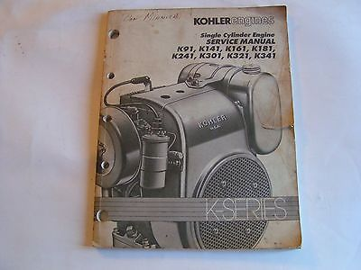KOHLER ENGINES SERVICE MANUAL K-SERIES