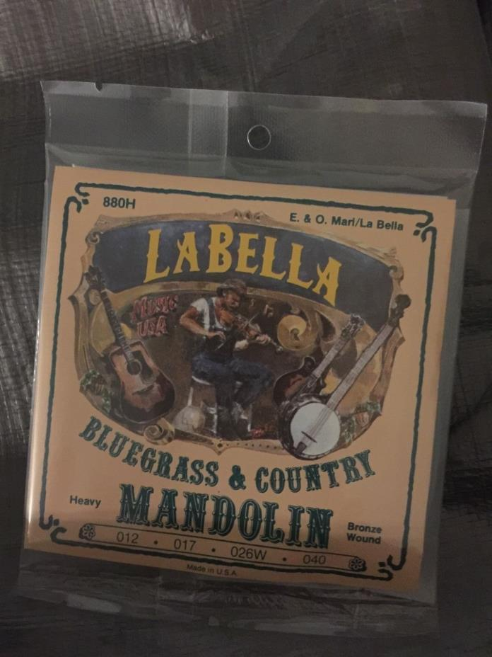 La Bella Bluegrass And Country Heavy Mandolin set .12-40