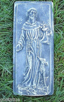 Plaster concrete mold mould Saint Francis plaque plastic mold