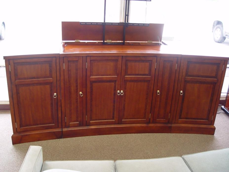 SUNRISE SOLID WOOD TV LIFT CONSOLE CABINET( CHEERY COLOR )