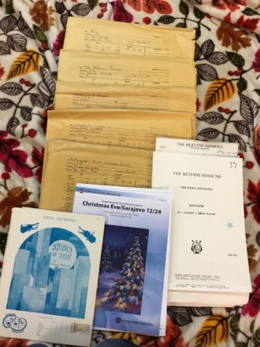 Lot Of 8 Christmas Etc.   - FULL ORCHESTRA - SHEET MUSIC