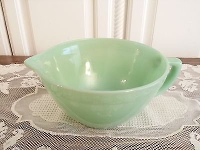 FIRE KING JADITE WET / DRY MIXING BOWL *MINT* HIGH SHINE