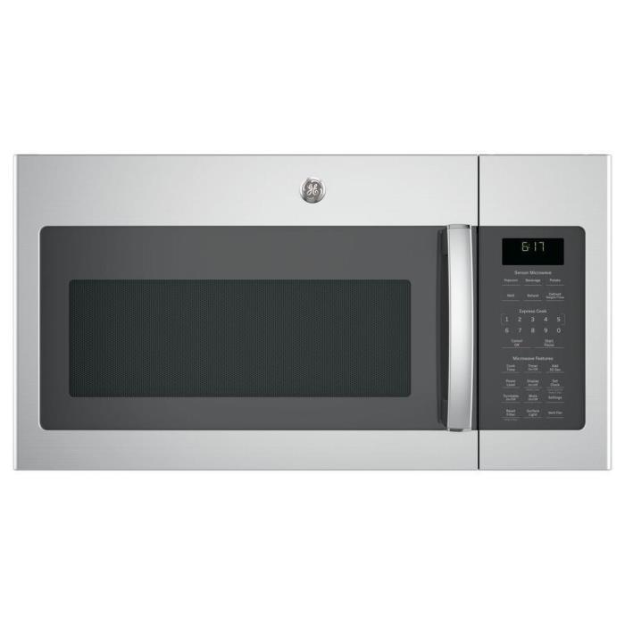 GE 1.7 cu. ft. Over-the-Range Sensor Microwave Oven Stainless Steel No Plate 262