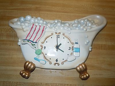 Old Style bathtub wall clock= Free shipping