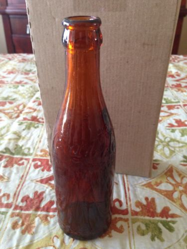 2 Amber Straight Side Tn Coca Cola Bottle Jackson Tennessee Arrow & Script Tenn