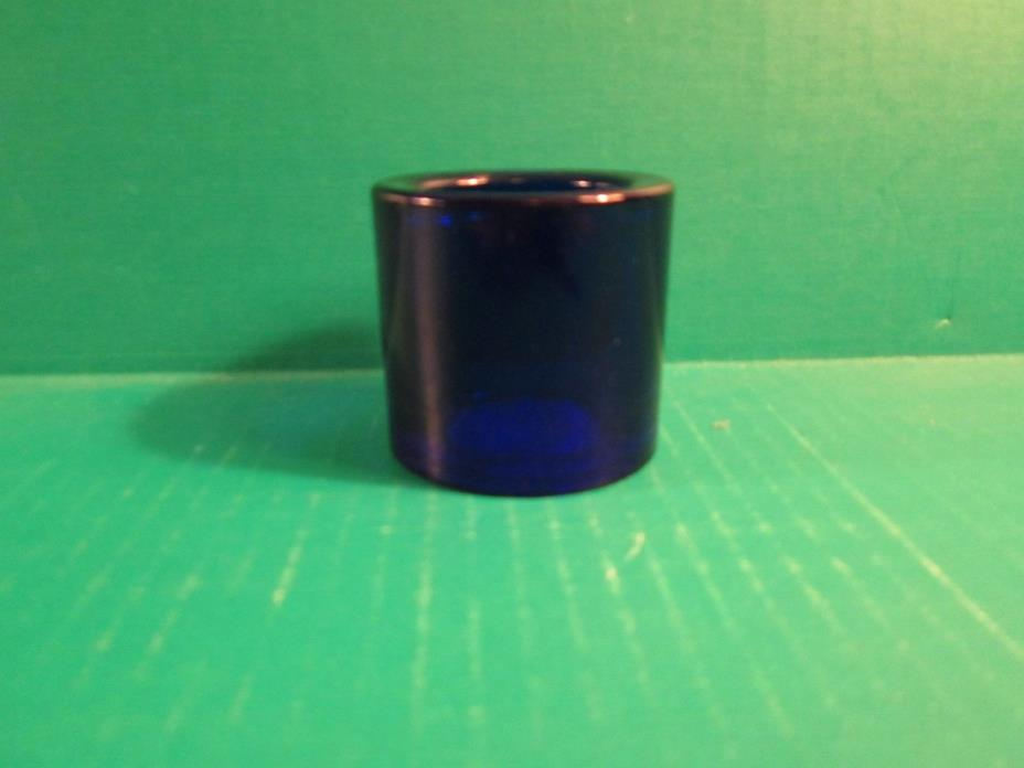 Cobalt Blue Round Glass Votive Candle Holder