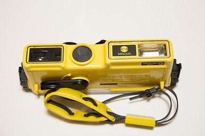 Minolta Weathermatic A 110 film Camera Yellow underwater
