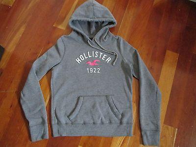 Womens HOLLISTER Pull Over hoodie Sweatshirt Size Medium Grey