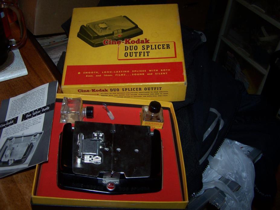 Vintage KODAK Cine-Kodak Duo Splicer Outfit  8 mm & 16 mm Movie Film Splicing