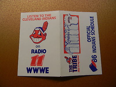 1986 CLEVELAND INDIANS POCKET SCHEDULE - AP465
