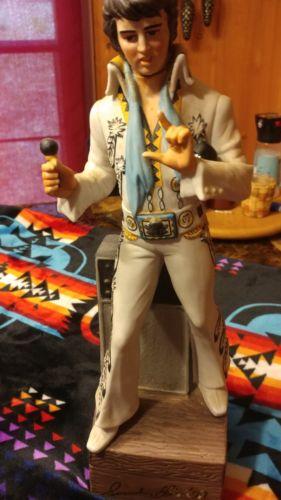 Elvis Presley McCormick Elvis '77 Musical Whiskey Decanter 1977 Empty No Box 15