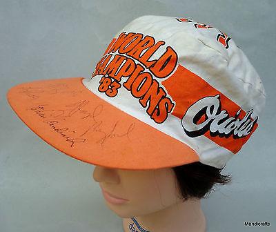Autographed Hat Baseball MLB Orioles 1984 Rayford Sheets Hendricks Baltimore Vtg