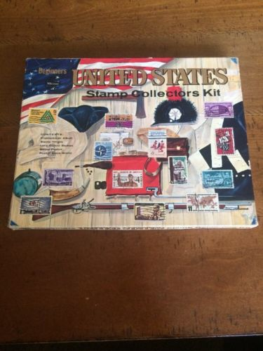 Whitman United States Stamp Collectors Kit 1960's +++ Huge Lot Of Old Stamps