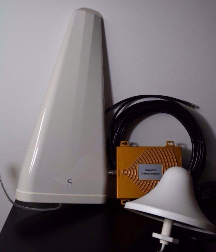 AT&T CRICKET H2O 850/1900MHz Dual Band Cell Phone Signal Booster Amplifier Kit