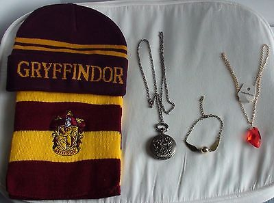 Harry Potter Watch - Gryffindor Scarf, Hat, - Snitch Bracelet - Phlosopher Stone