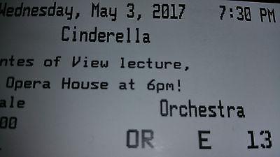ONE TICKET TO BALLET 'CINDERELLA',  SAN FRANCISCO BALLET 05/03/2017 7:30p