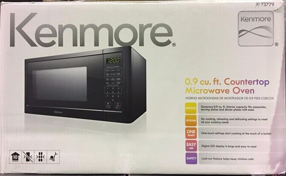 Kenmore Countertop Microwave Oven Black 73779