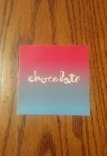 CHOCOLATE SKATEBOARDS THE RED FADED BOX CHOCOLATE LOGO SQUARE SKATEBOARD STICKER
