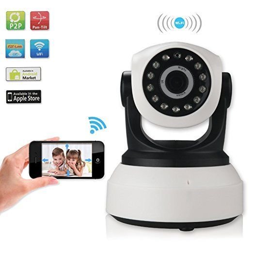 Wireless Wifi IP Camera Two way Audio Baby Monitor Video Recording HD 720p P2P
