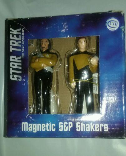 Star Trek: Worf & Data: Salt & Pepper Shakers  US SELLER