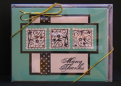Handmade Greeting Cards. Boxed Set of Eight, Assortment, Various Occasions (L-7)