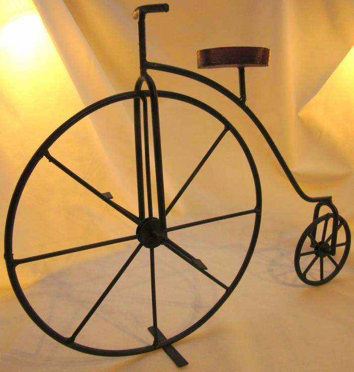 Black Iron Penny Farthing High Wheel Bicycle Miniature