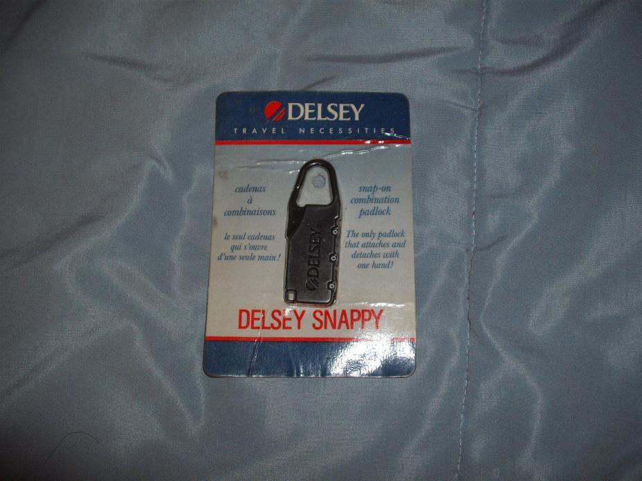 VIntage Delsey Snappy Snap-on Combination Lock Paris Black
