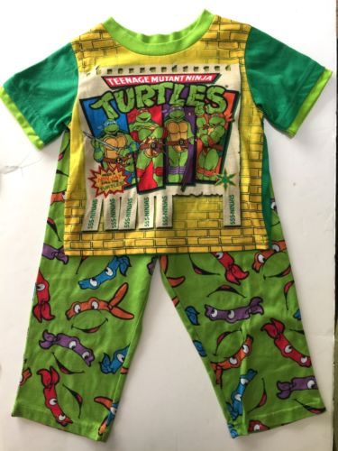 boys Nickelodeon 2pc pj pajama sleepwear set sz 4T short Slv Ninja Turtles euc