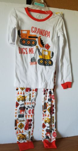 Childrens place boys Toddler 5T Pj set Grandpa Digs Me Construction Pajama 2pc