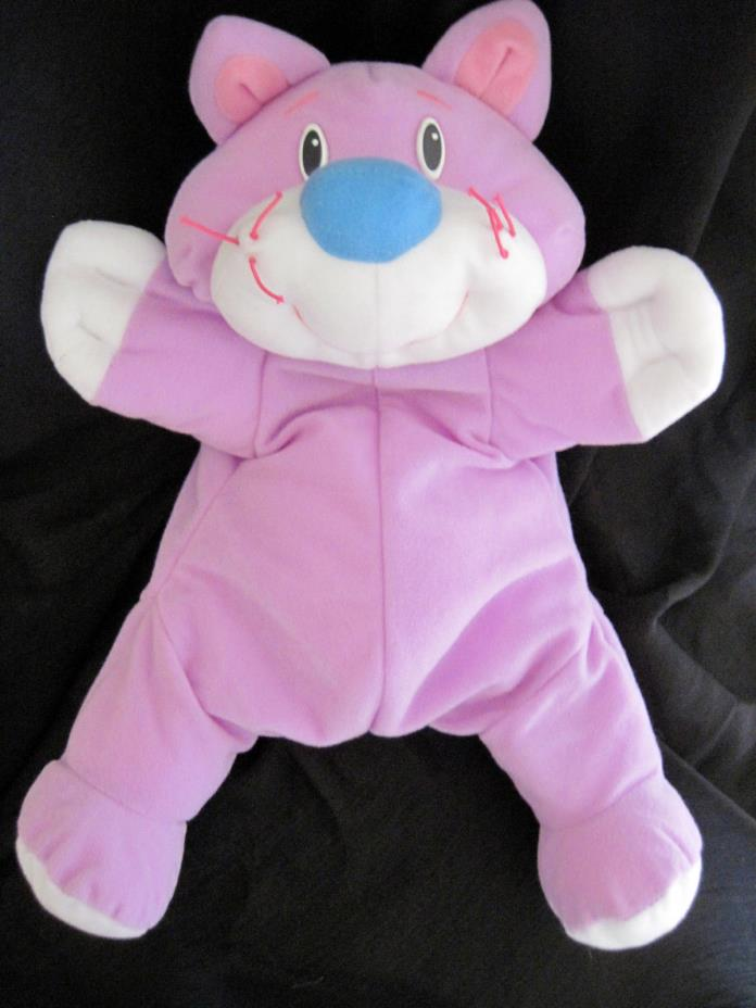 1999 Fisher-Price RUMPLE Bear Cat Kitty Plush Stuffed Animal Toy ~ EUC