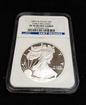 2007-W Silver Proof $1 American Silver Eagle NGC PF70 Ultra Cameo ER (RC189)
