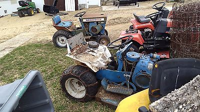 2 Ford  tractors  garden tractor lawn tractor