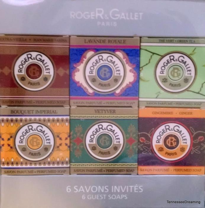 Vintage Set Roger & Gallet Paris France Coffret 6 Guest Soaps 25g Each NOS NIB