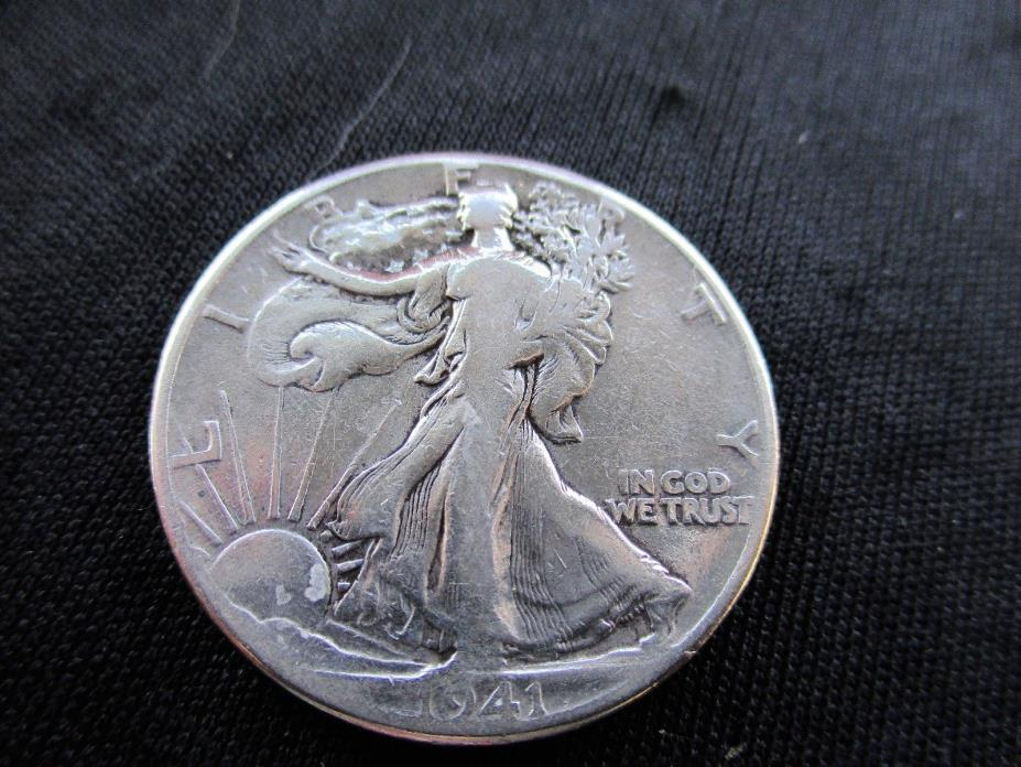 SILVER 1941  Liberty Walking Silver Half Dollar
