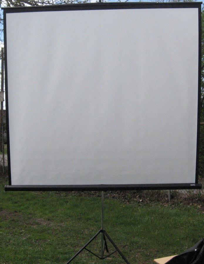 large projection screen The nierbo 200 inch large projector screen is ideal for anyone who is looking for an affordable screen that can be used outdoors the screen is fully portable, so it's easy to simply hang it up in the yard when you have visitors, watch a movie, then take the screen down and store it away.