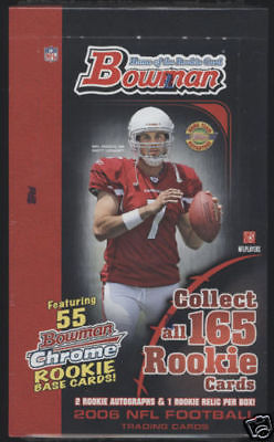 2006 BOWMAN Football HTA JUMBO Hobby Box TOPPS 06 NFL RC ROOKIE CARD AUTO JERSEY
