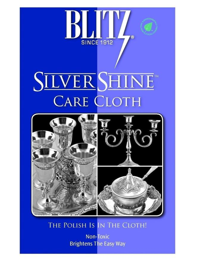 Blitz Silver Shine Care Cloth Sterling Silver Polishing Cleaning Cloth
