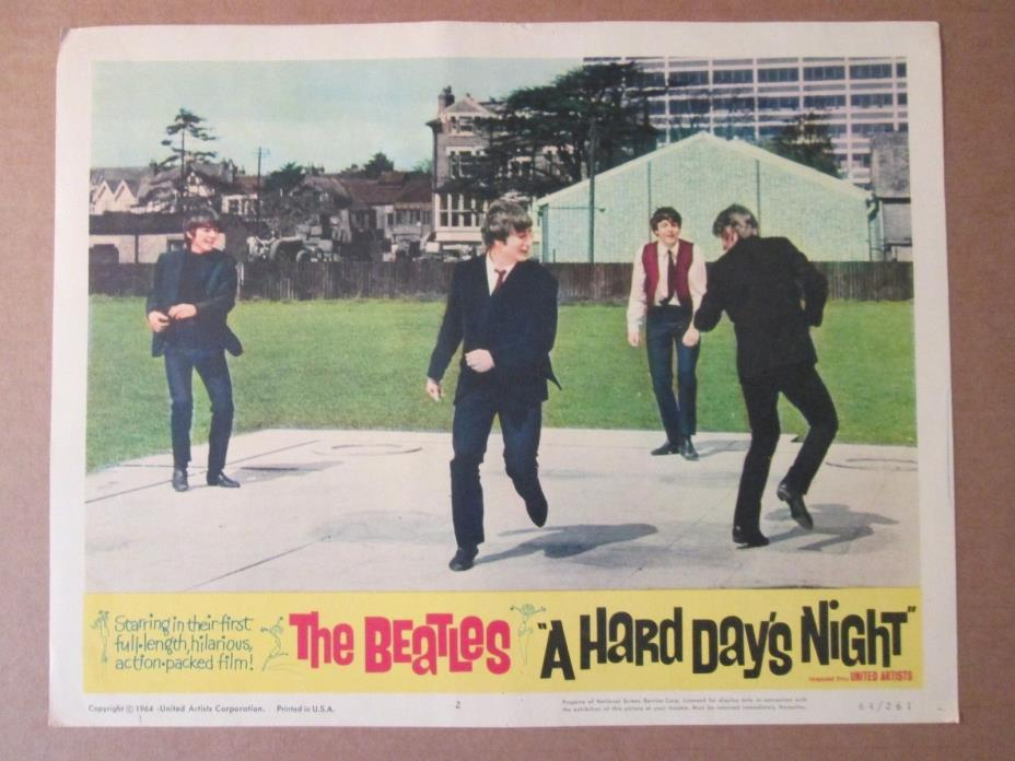 A Hard Day`s Night     -    Lobby Card 1964 - The Beatles