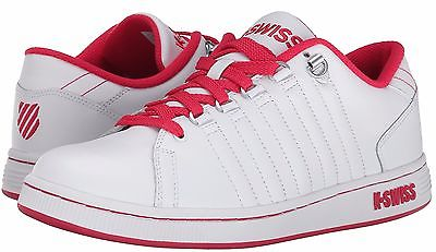 K-SWISS 93212-172 LOZAN III WMN's (M) White/Raspberry Leather Lifestyle Shoes