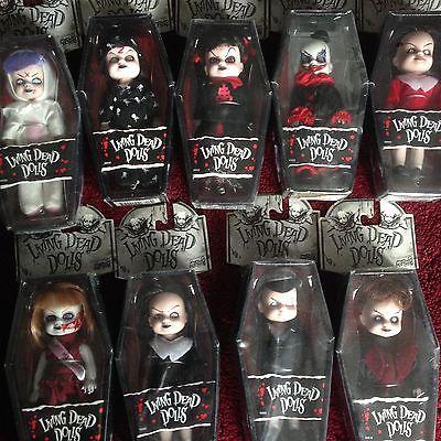 Lot of 9 Mini Living Dead Dolls series 1