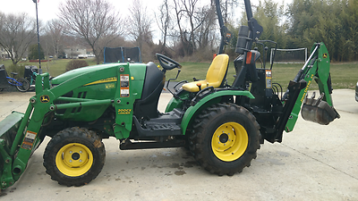 John Deere 2320 Tractor, Backhoe, Mower Deck , and Grass Catcher