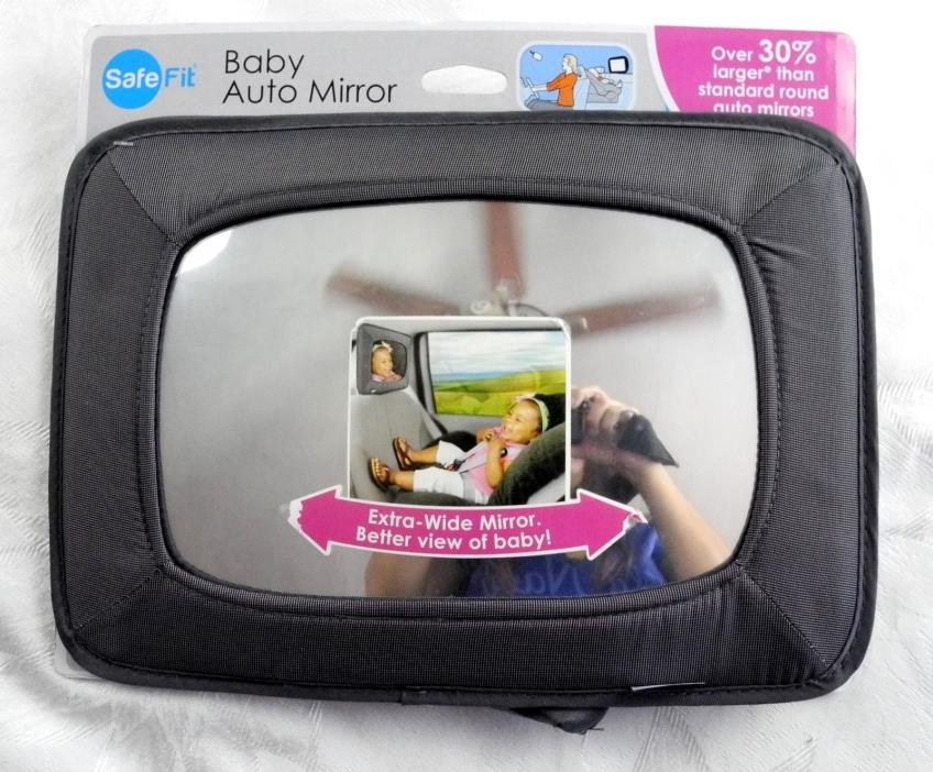NEW Safe Fit Baby Auto Automobile Mirror Shatter Proof Rectangular