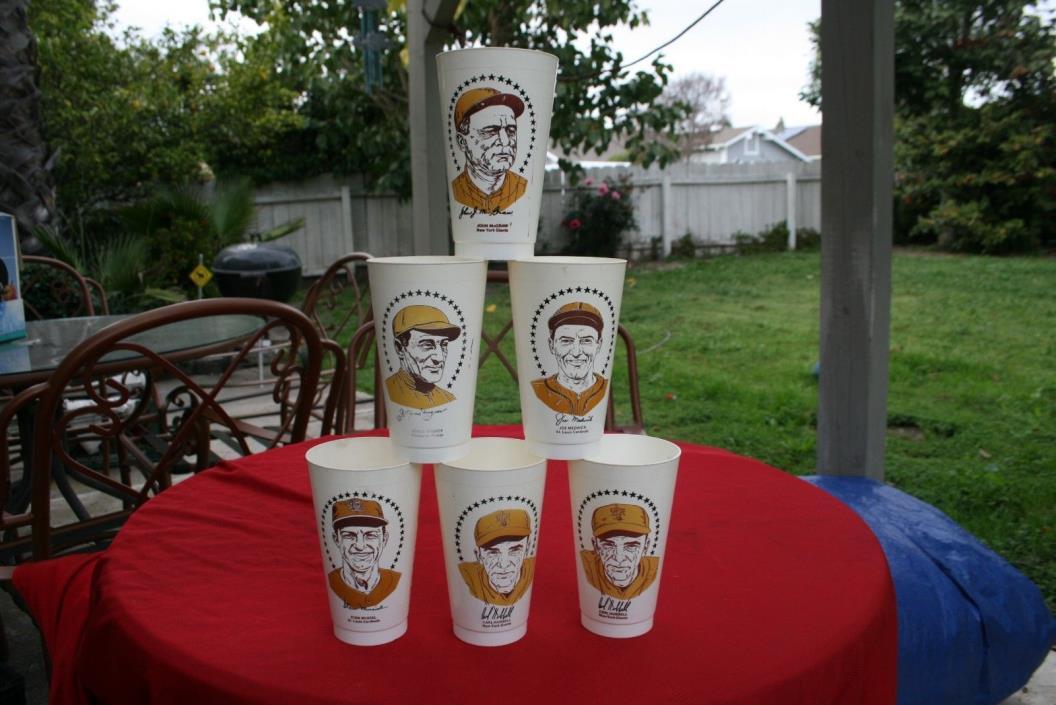 7-11 Slurpee Cups  Hall Of Fame  Baseball