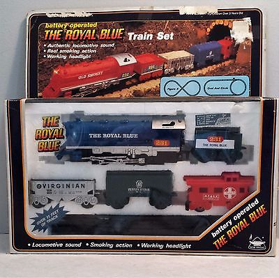 Vintage Train Set - Royal Blue Battery Operated