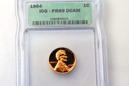 For Sale ICG Graded PR69 Deep Cameo 1964-P Lincoln Small Cent Penny Coin NUM3029