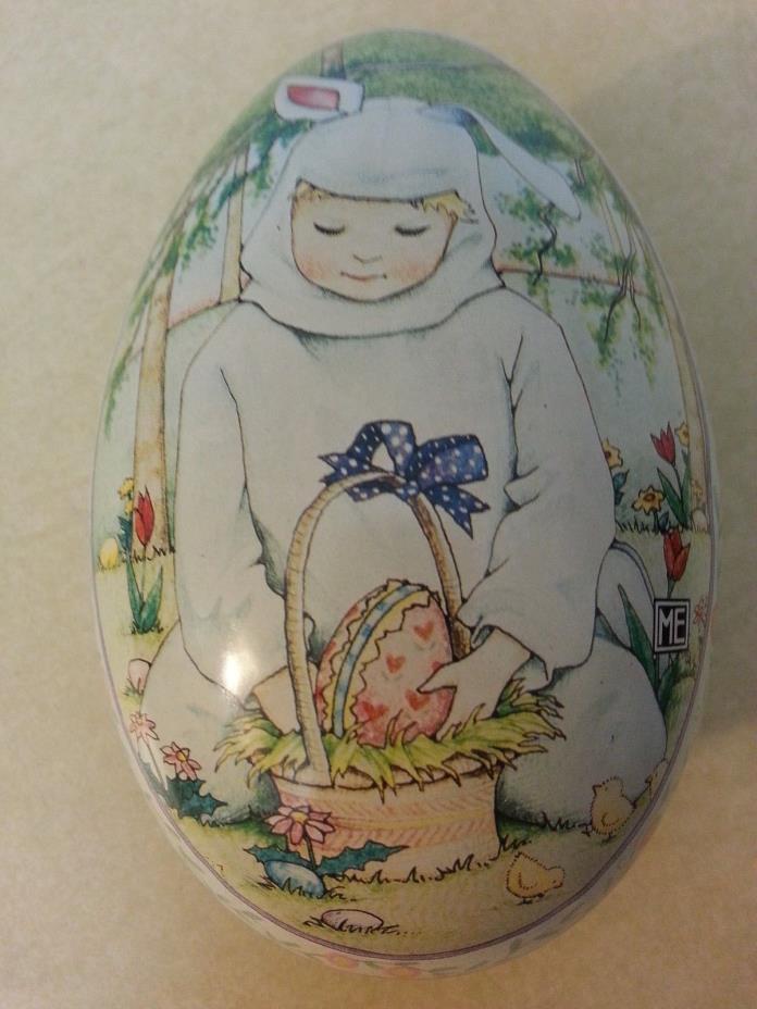 Vintage Mary Engelbreit Designed Metal Easter Egg
