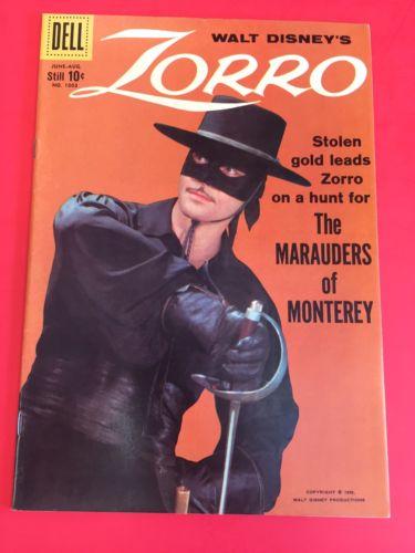 DELL COMICS - ZORRO  four color 1003 - HIGH GRADE COPY- WALT DISNEY  PHOTO COVER