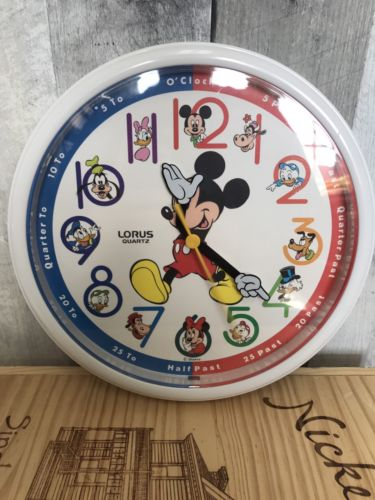 Disney Mickey Mouse Lorus  Quartz Wall Clock